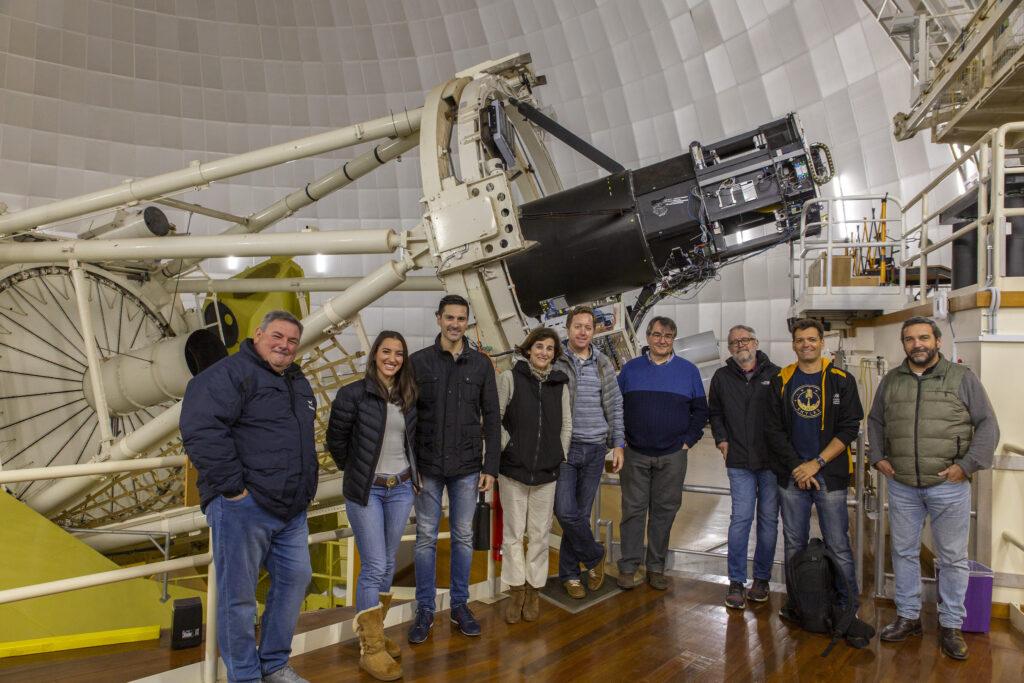 Visita VIP al Telescopio Anglo-Australiano. Crédito: Ángel R. López-Sánchez.